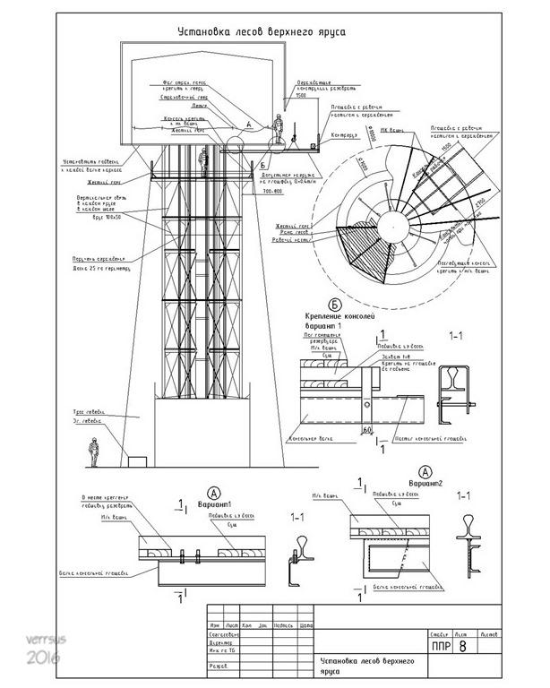 Выполнение работ по ремонту водонапорной кирпичной башни с металлическим резервуаром в соответствии